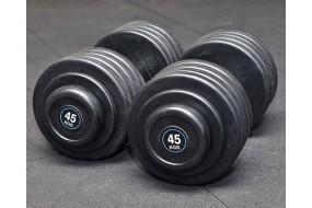 Rubber Coated Dumbbells - Per KG