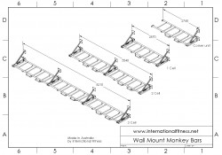 Integrity Wall Mounted Monkey Bars