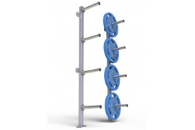 Wall Mounted Bumper Plate Storage