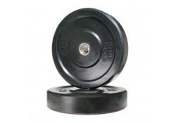 100kg Black Bumper Plate Set