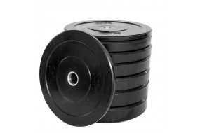 150kg Black Bumper Plate Set