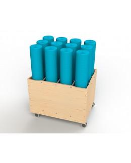 Foam Roller and Yoga Mat Trolley