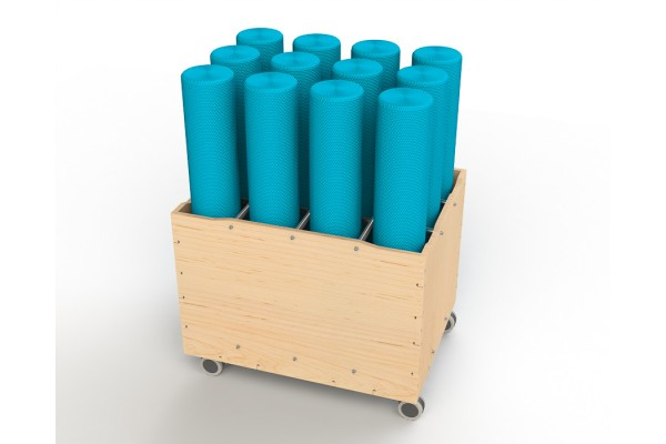 Foam Roller and Yoga Mat Trolley