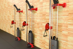 Wall Pulley Station - 112kg Weight Stack