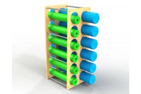 Foam Roller and Yoga Mat Tower
